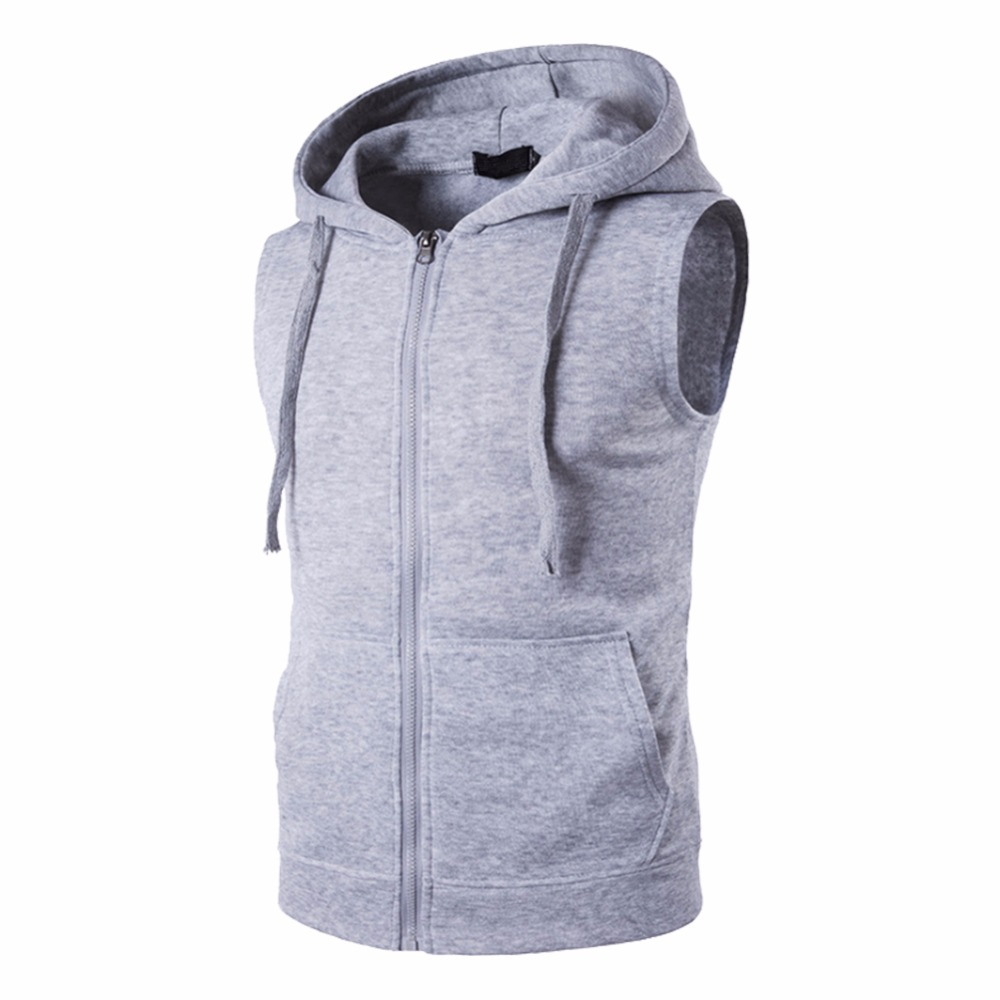 Compare Prices on Mens Sleeveless Zip Hoodie- Online Shopping/Buy ...