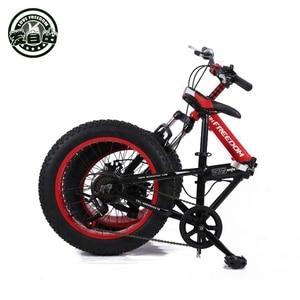 Image 4 - Bicicletas dobráveis para homens e mulheres bicicletas de neve portátil bicicleta mudando absorção de choque pequena roda 20 polegada mountain bike