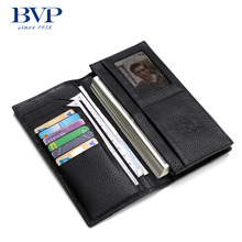 BVP – Trend New Arrival Brand High-end Simple Elegant Designer Cowskin Genuine Leather Men's Long Wallet Purse Clutch Bag J50