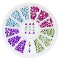 Hot Sale Assorted Colors Nail Glitters Wheel Triangel Shape Crystal Stone Nail Tip Decorations Tool Charms Nail Art Supply WY167