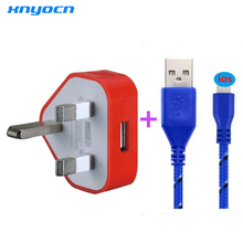 For iPhone 5 5c 5s 6 6plus Mini USB UK plug wall charger 5V 1A Charger