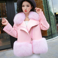 2017 Faux Leather Vest Faux Leather Time limited Limited Rabbit Fur Coat Winter Fox Female Code Was A Paragraph Pu Imitation