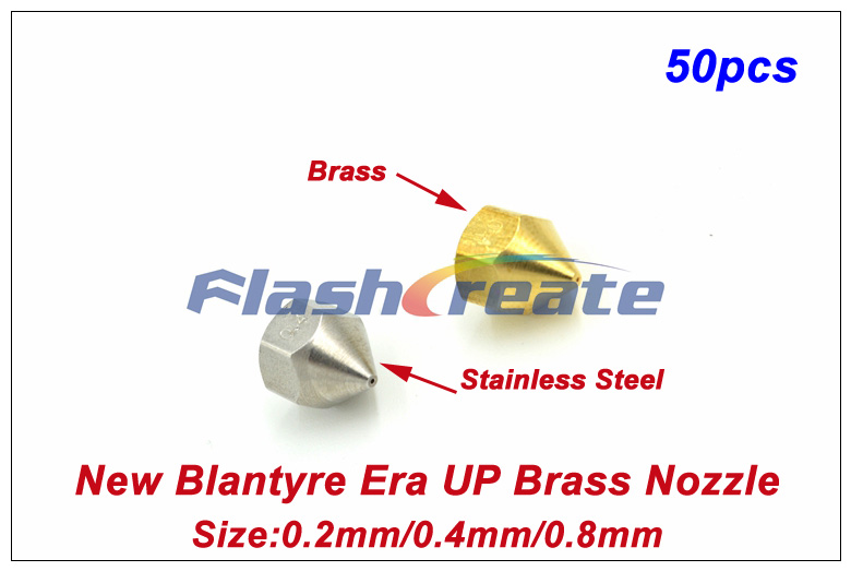 50pcs New Blantyre Combination Nozzle Tip Brass Nozzle 0 2 0 4 0 8mm For 1