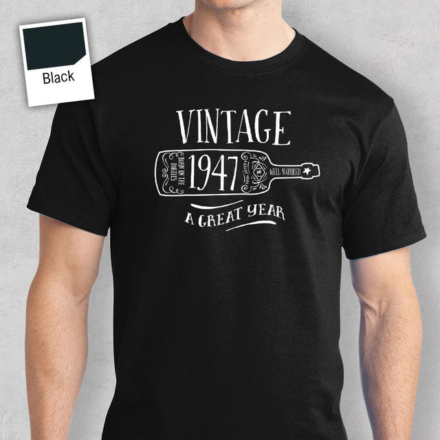 70th Birthday Gift Present Idea For Boys Dad Him Men T Shirt 70 Tee 1947 Top Tees Any Logo Size