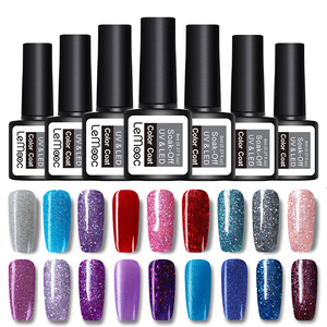 LEMOOC 8ml Nails Gel Polish Lucky Hybrid Varnish Set Starry Sky Semi Permanent Primer Base for Nail Art Poly UV Gel Nail Polish
