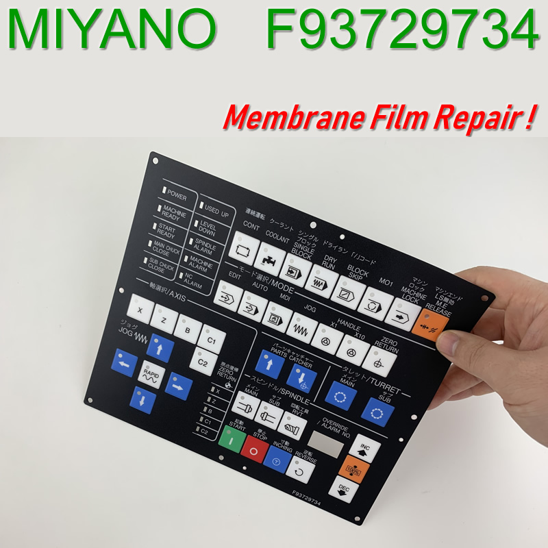 F93729734 Protective film for MIYANO Panel repair do it yourself New Have in stock