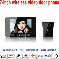 7 дюймов 2,4 ГГц цифровой беспроводной Видео дверной телефон открытый дверь контроля доступа камера