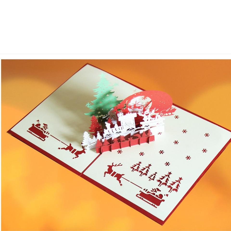 Partecipazioni Matrimonio Kirigami.Christmas Cards Details About 3d Popular Up Card Christmas