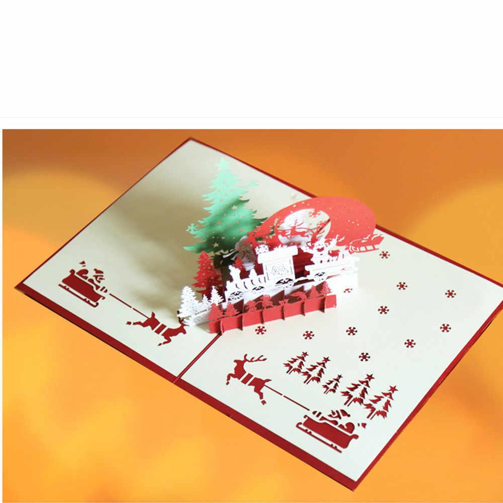 Partecipazioni Matrimonio 3d.Christmas Cards Details About 3d Popular Up Card Christmas