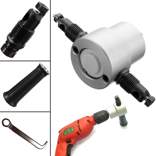 Double Head Sheet Nibbler Metal Cutter Drill Attachment Woodworking Metal Cutting Saw Driiling Tools Power Tool Accessories