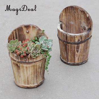 MagiDeal Fashion Vertical Garden Planters Vase Flower Pots Bucket Hanging Home Decor Garden Lawn