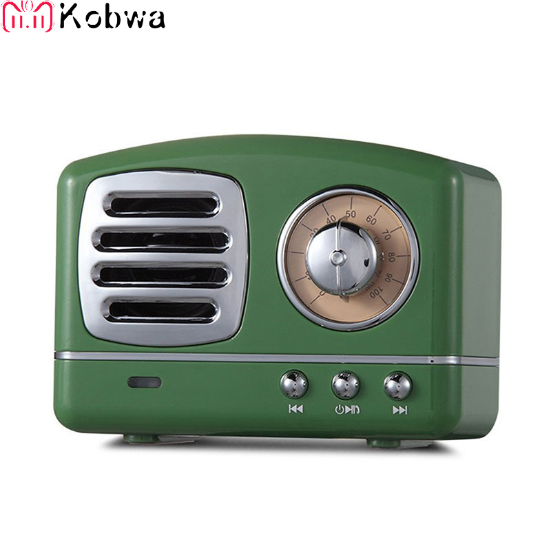 Retro Hifi Stereo Bluetooth V4.1 Speaker Portable Wireless Vintage Speaker Built In Mic And Aux Support Memory Card