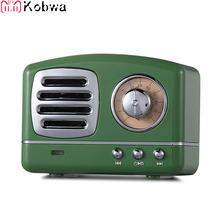 Retro Hifi Stereo Bluetooth V4.1 Speaker Portable Wireless Vintage Built In Mic And Aux Support Memory Card