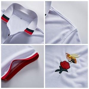 Image 5 - Mens בגדים 2019 קלאסי קיץ מותג קצר שרוול חולצת פולו גברים מקרית רגיל כותנה יוקרה מעצב Homme מוצק Slim Polos