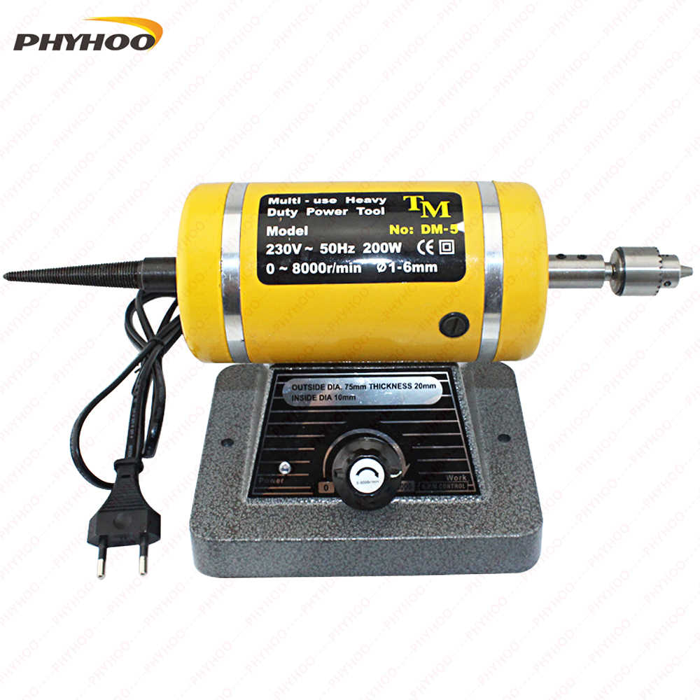 220V With A Drill Chuck Bench Grinder Polishing Motor Workpiece Punching/Polishing Machine