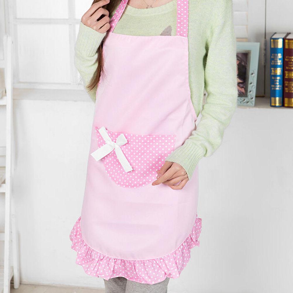 White frilly apron nz - Korean Kitchen Apron Woman Ruffled Waitress Nail Salon Work Avental De Cozinha Divertido Tablier Cuisine Pinafore