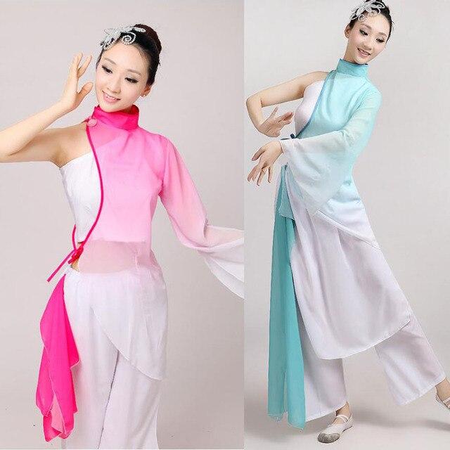 Новый Национальный Костюм Yangko Танец Костюм Танец с Длинным Рукавом Женщины Танцор Классический Этап Танцы Одежда