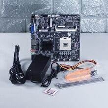 HM77 PC материнская плата тонкий-ITX материнской плате компьютера набор CPU низкая Мощность секунд HM65 Рабочий стол с 60 Вт Питание адаптер Бесплатная доставка