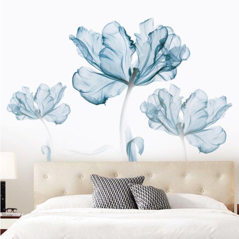 77*110cm Creative Exquisite Flower 3D Wallpaer Home Decor Vinyl Wall Sticker DIY Flower Living Room Bathroom Decoration Poster 1