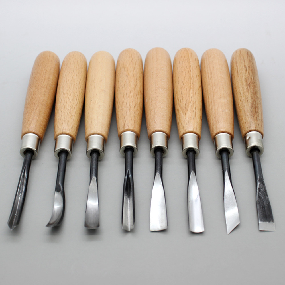 8Pcs Woodpecker  Wood Carving Tools Chip Detail Chisel set  Knives tool sculpture manual Made DIY tools купить