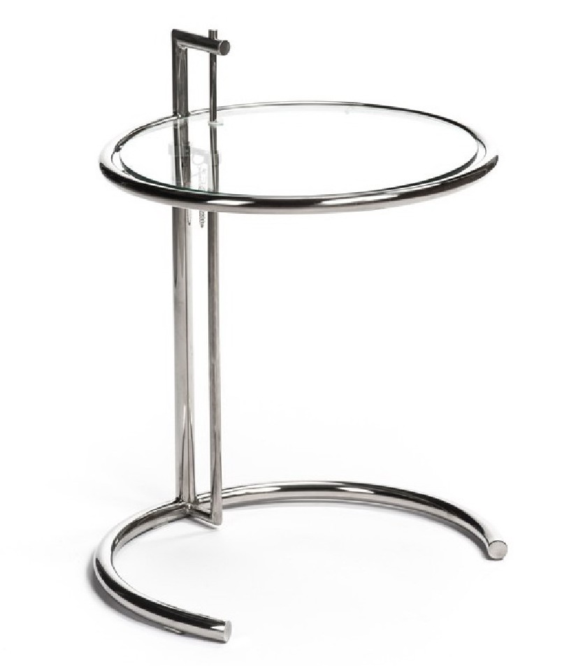 Height Adjustable Eileen Gray Side Table Tempered Glass Top Eileen - Eileen gray end table