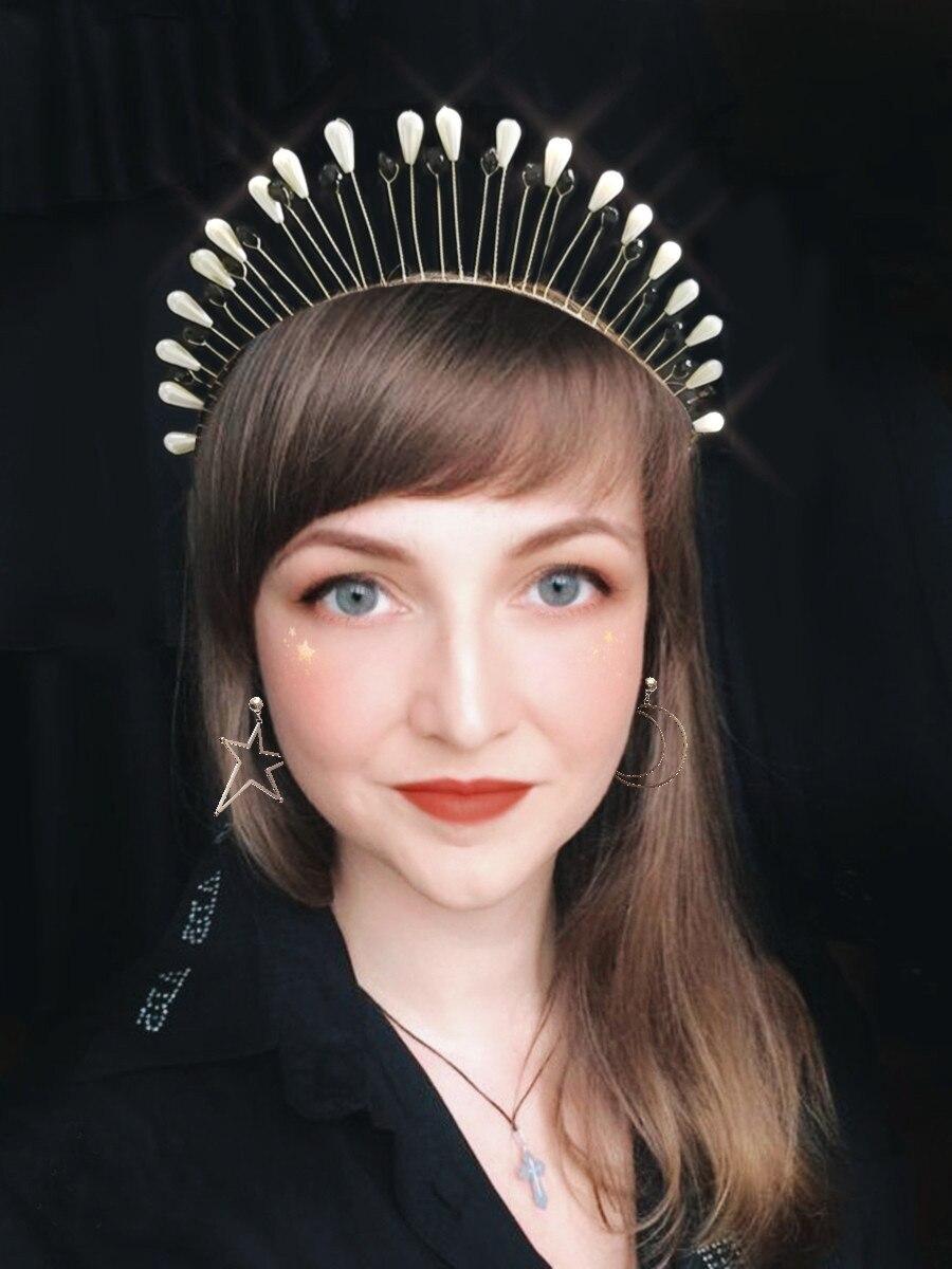 bridal tiara gold crown headpiece headdres crystal tiara womens gift gold headdress hair vine