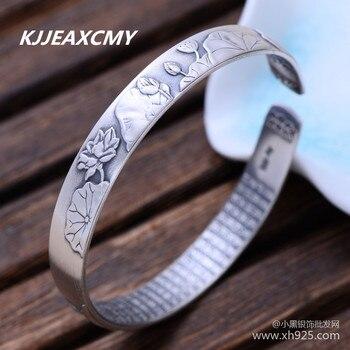 25d1c0347f1d KJJEAXCMY 999 plata esterlina joyas de plata lotus ahorro de energía mate  exquisita pulsera