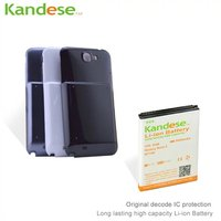 KANDESE Brand Black Door Cover 8400mAh High Capacity Extended Battery For Samsung Galaxy Note 2 N7100