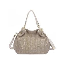 Serpentine Fashion Women Shoulder Bag Elegant Ladies Work Office Crossbody Bag PU Leather Luxury Bags For Woman