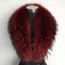 JKP пальто с воротником из натурального меха енота, женский шарф с воротником из натурального меха енота, винно-Красный Модный шарф для женщин