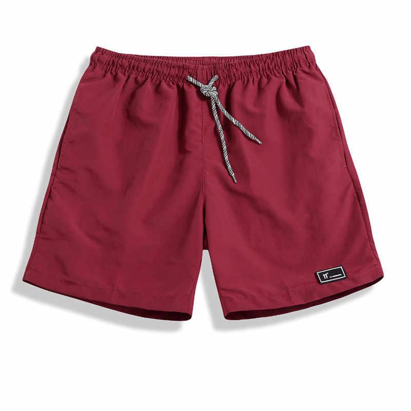 UNIVOS קוני חדש קיץ אופנה גברים יריות Fit Slim מכנסיים מקרית מוצק פנאי ספורט לוח מכנסיים גברים בתוספת M-5XL Q594