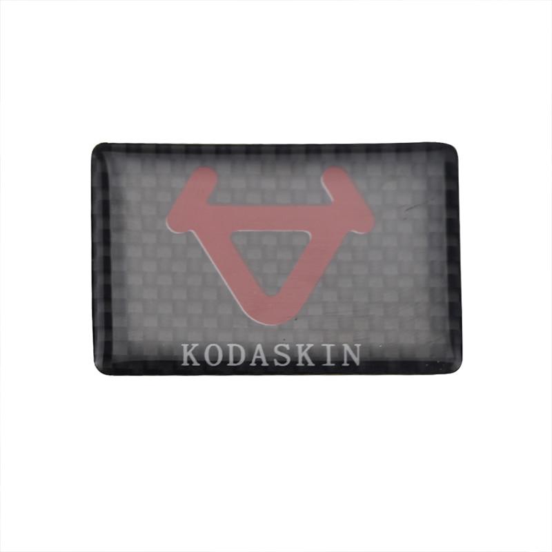 Kodaskin motocicleta 3d levantar adesivos de carbono