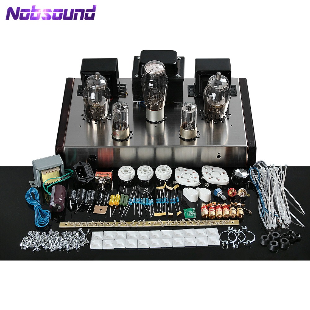 Nobsound Latest 6N8P+Fu-7 Tube Amplifier HiFi Class A Single-Ended Integrated Power Amp Pure Handmade music hall 6n8p 6p3p hifi single ended pure class a tube amp vacuum power amplifier diy kit 100