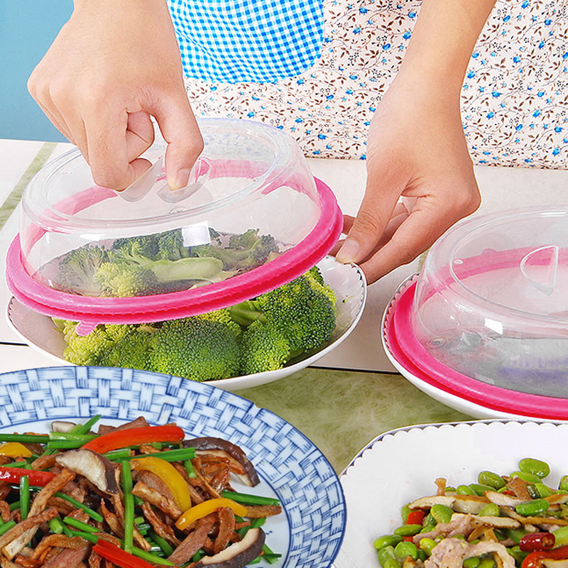 Plate Topper Universal Leftover Lid Microwave Cover Airtight Kitchen Tools