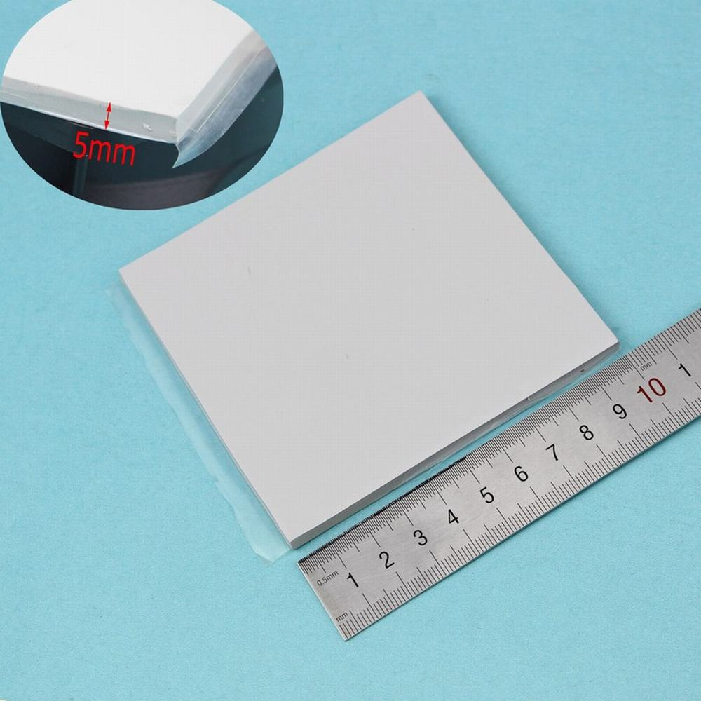 1 PCS Gdstime 100mm x 100mm x 5mm GPU CPU Heat sink Cooling Thermal Conductive Silicone Pad Notebook IC Conduction Heatsink Pad gpu cpu heatsink cooling thermal conductive silicone pad 100mmx100mmx0 5mm