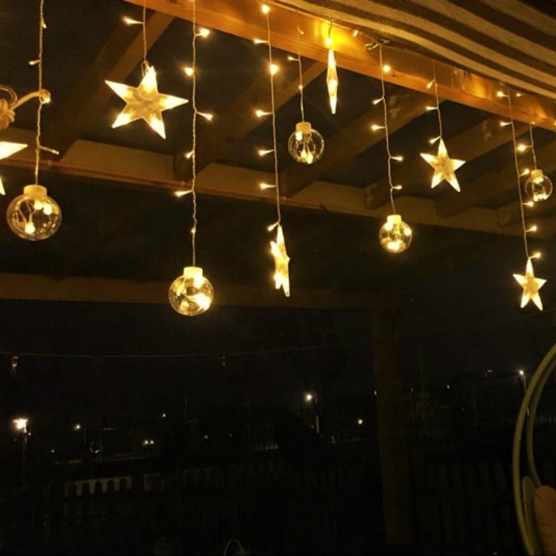 4a09ba7034532 LED Lámpara Decorativa Bola De Cristal Transparente 3 M carámbano de Navidad  Luz 220 V 110 V Fiesta de Navidad Boda Del Jardín la Decoración Del hogar  en ...
