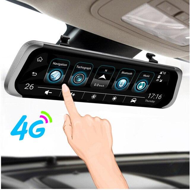 """ANSTAR 4G Android espejo retrovisor de coche DVR 10 """"HD 1080 P HD GPS WIFI ADAS Dash Cam Dual de la lente grabador cámara automática registrador DVRs"""