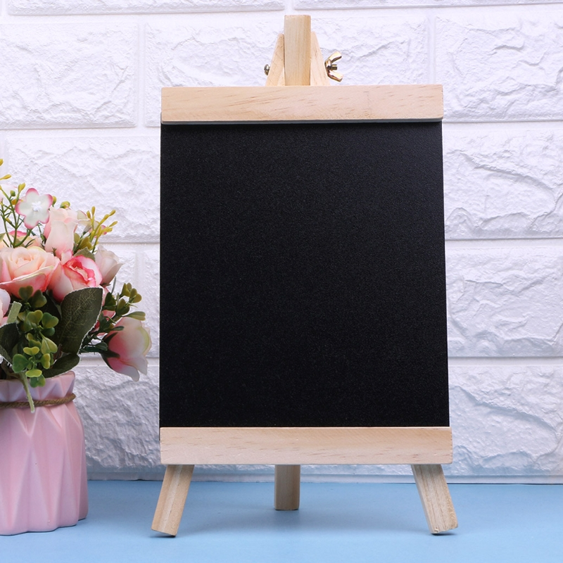 Desktop Message Board Blackboard Easel Chalkboard Kids Wood Writing Boards Collapsible School Supplies Size L