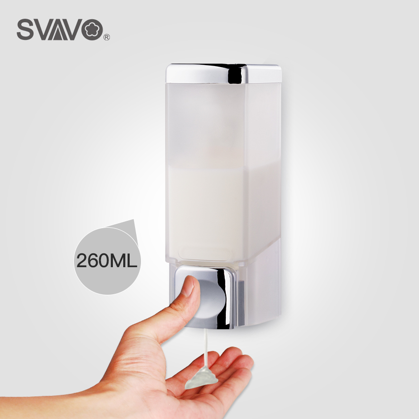 260ml Wall Mounted  Bathroom Hand Pressing Liquid Soap Dispenser White Chrome Manual Soap Dispenser For Kitchen260ml Wall Mounted  Bathroom Hand Pressing Liquid Soap Dispenser White Chrome Manual Soap Dispenser For Kitchen