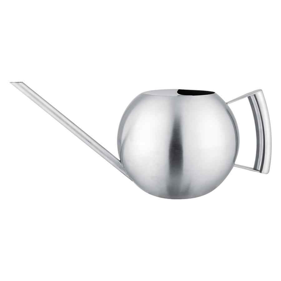 watering can for watering flowers Stainless Steel Watering Can 1000mL Long Mouth Round Sprinkling Pot for Home Garden Plant