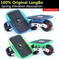 オリジナルlangbo積極的なプロフェッショナルドリフトボード用freelineプロog gromクルーザースケートボードプレーヤー