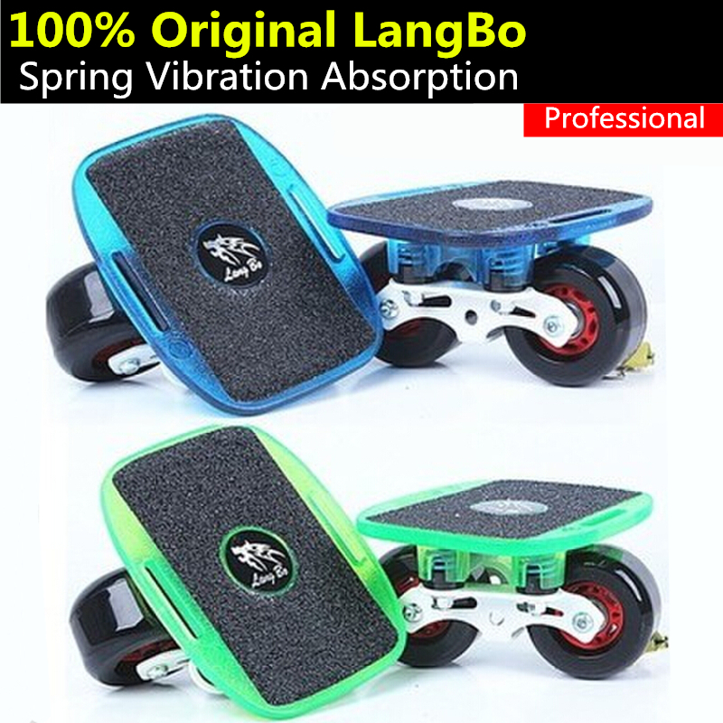 Original Langbo Aggressive Professional Drift Board for Freeline PRO OG GROM Cruiser Skate board Player, Spring Anti-vibrate