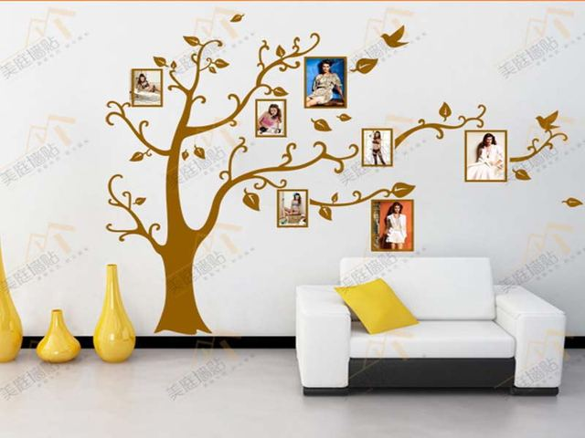 Family Tree Wall Picture Frame aliexpress : buy family tree wall sticker frames home