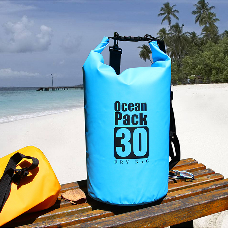 PVC 5L 10L 20L Outdoor Diving Compression Storage Waterproof Bag Dry Bag For Man Women Swimming Rafting Kayak title=