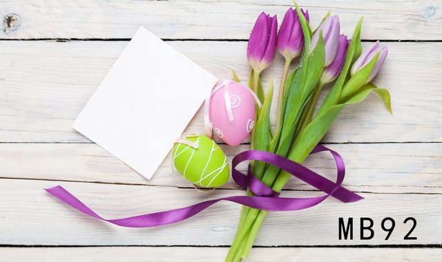 Happy Mothers Day Valentines Flowers Photography Backdrops White Wood Product Display Background Props For Photo