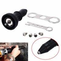 Black Electric Cordless Riveting Rivet Nut Tool Set Insert Nut Adaptor Drill Kit For Power Tools