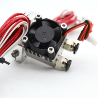 3D Printer Part 0 4mm 1 75 3mm Double Nozzle Remote Full Kits Metal J Head
