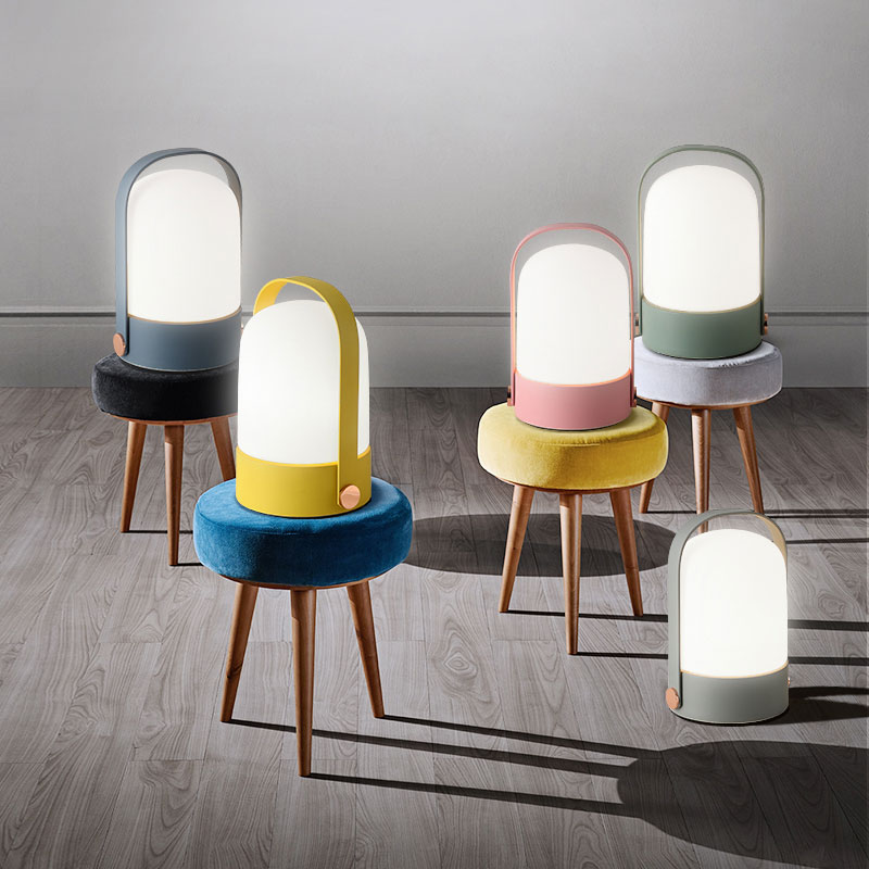 European glass table light modern simple touch study bedroom bedside desk lamp living room fashion pastoral table lamp LU8101728 european pastoral village glass desk lamp bedroom bedside lamp warm modern minimalist creative flowers desk lamp free shipping