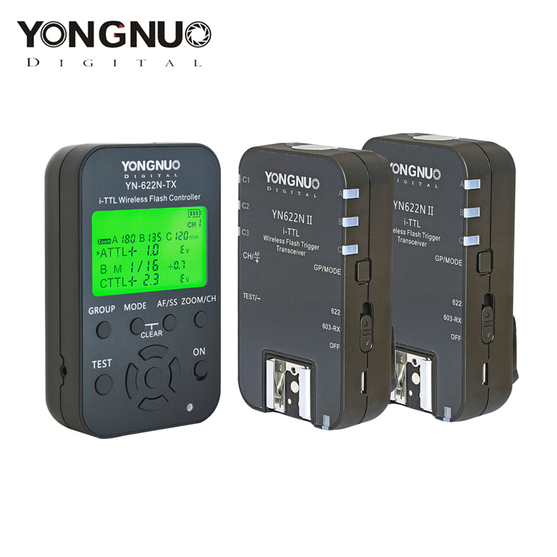 Yongnuo YN622N II + YN622N-TX i-TLL Wireless Flash Trigger Transceiver for Nikon Camera for Yongnuo YN565 YN568 Flash 2pcs yongnuo yn622n ii yn622n tx i ttl wireless flash trigger transceiver for nikon camera for yongnuo yn565 yn568 yn685 flash