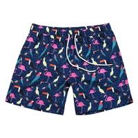 2018 men beachwear hot selling sportswear Flamingos prints beachwear bathing swimming trunks for men swim suits men gym clothing